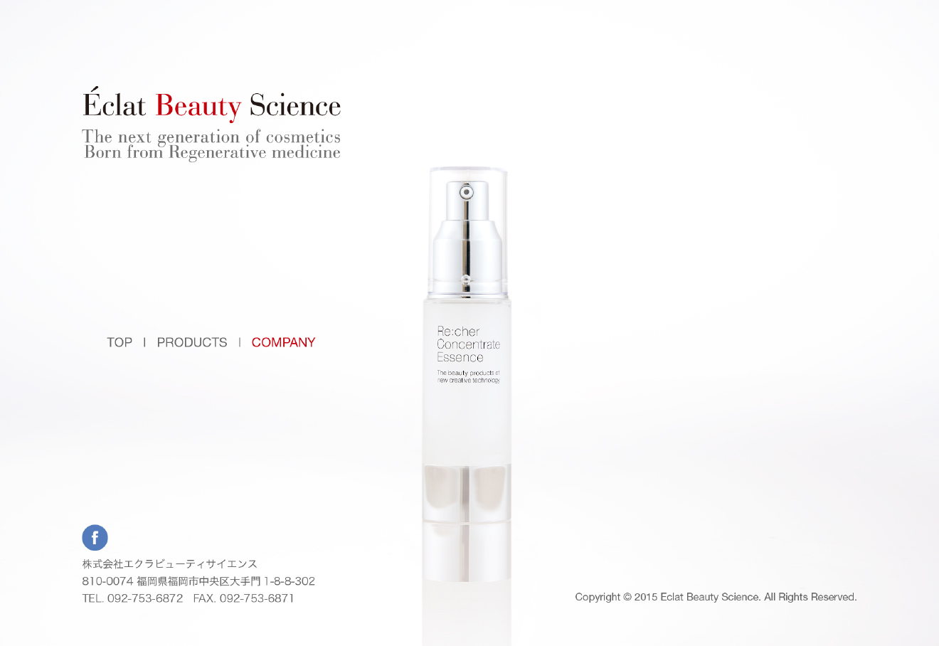 Eclat beauty science Website